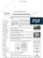 Pressure Vessel Certification