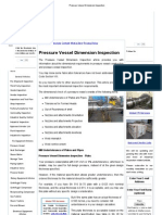 Pressure Vessel Dimension Inspection