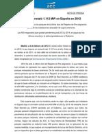 130208 NP La Eolica Instalo 1112 MW en Espana en 2012
