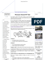 Pressure Vessel RT Test