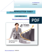 Daily MCX Newsletter 26 April