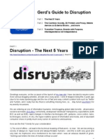 Gerd's Guide to Disruption 2013