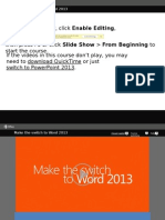 Make the Switch to Word 2013