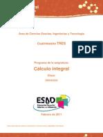 Programa Desarrollado de Cálculo Integral - UNADM