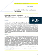 Explicatii Existential-Umaniste ale Tulburarilor de Adaptare a Copilului in Familia Substitutiva, Petru. Stefaroi