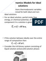 Thermodynamic Models for Ideal solutions.pptx