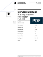 Service manual for Whirlpool Fl 5103
