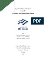 Sistem Informasi Manajemen Pengguna dan Pengembang Sistem