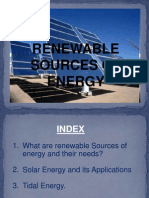 Renewable Sources of Energy......