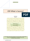 019 What is Success?