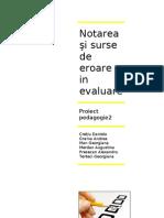 Notarea şi surse de eroare in evaluare 1