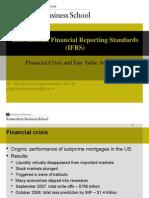 Financial Crisis and Fair Value Accounting