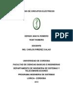 ANÁLISIS DE CIRCUITOS ELÉCTRICOS solucion taller 1