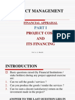 Financial Appraisal Part I Project Cost and Its Financing
