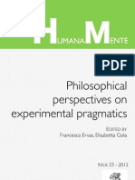 Humana_Mente 23 On Experimental Pragmatics