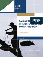 Balancing Chinese Interests on North Korea and Iran