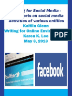 2 Reports on Social Media Activities Final