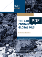 The Carbon Contained in Global Oils