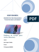 Políticas de Grupo para Active Directory