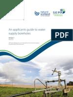 SEPA Applicants Guide Boreholes