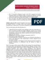 V Hispanic Leaders Convention Pressnote _EN
