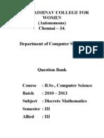Question Bank Discrete Maths