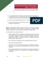 Nota de Prensa V CONVENCIÓN DE LÍDERES HISPANOS