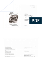 Goffman - Viata Cotidiana CA Spectacol