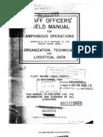 Amphibious Operations, Staff Officers' Manual, USMC, Nov 1944