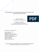 STEM Integration in a Research Based Engineering Curriculum Using Enacted and Prescribed Frames
