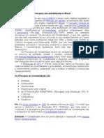 Princípios da contabilidade no Brasil