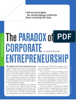 Paradox of Corporate Entrepreneurship
