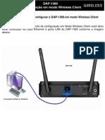 Configuracao Em Modo Wireless Client DAP-1360