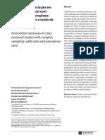 2008 FRANCISCO - Medidas de associa+º+úo em estudo transversal com