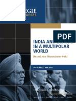 India and Europe in a Multipolar World