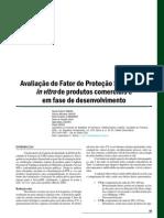 avaliação do fator de proteção solar