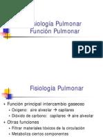 Fisiología - Funcion Pulmonar
