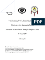 Algonquin Statement on Asserted Rights & Title Overview 2013-01-21 Final ENGs
