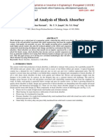 Design and Analysis of Shock Absorber