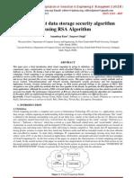 An Efficient data storage security algorithm using RSA Algorithm