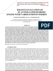 PERFORMANCE EVALUATION OF