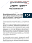 Attribute Grouping Based Classification for Knowledge Discovery in Databases