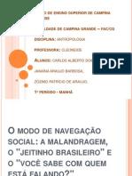 Antropologia - O Modo de Navegação Social