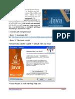 lap trinh java-Thiết lập môi trường lập trình Java trên Windows