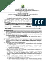 Edital Especialização
