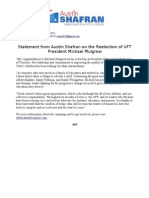 Statement from Austin Shafran on the Reelection of UFT President Michael Mulgrew