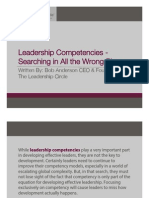 Leadership Competencies - Searching In All The Wrong Places - Bob Andesrson