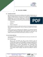 09 Ix Plan de Cierre