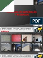 Catálogo de Materiales y Acabados 2013