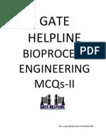 GATE HELPLINE Bioprocess Engineering MCQ II